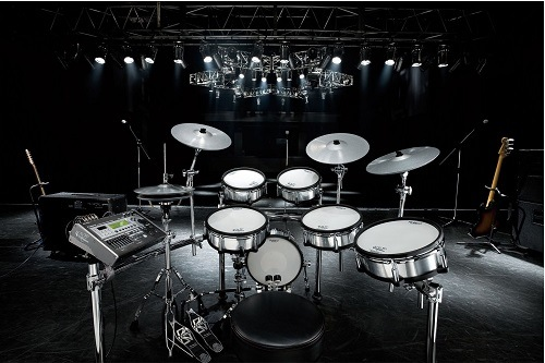 Digital Drums Set On Stage