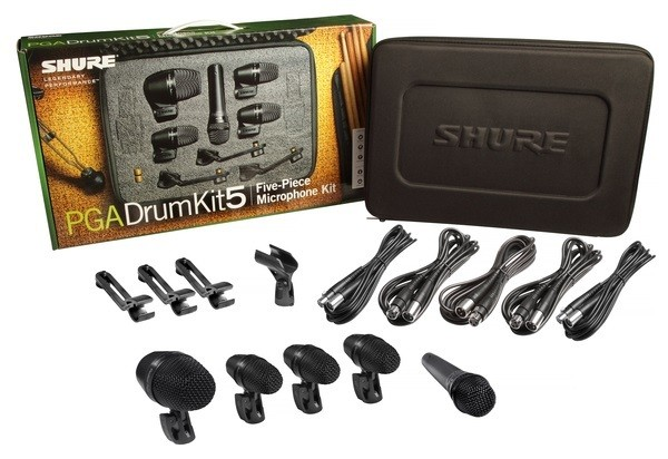 Shure PGADRUMKIT5 5-Piece Drum Microphone Kit